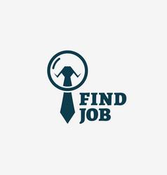 Find job logo vector