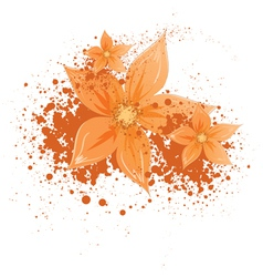 Flowers with blotches vector