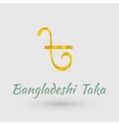 Golden symbol of bangladesh taka vector