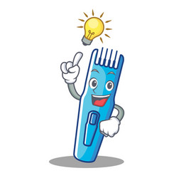have an idea trimmer mascot cartoon style vector image
