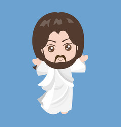jesus rising vector image vector image