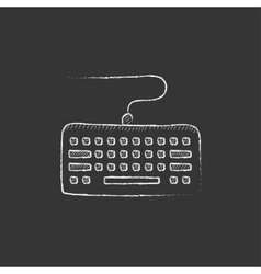 Keyboard drawn in chalk icon vector