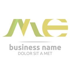 letter m combination e alphabet lettering vector image vector image