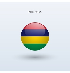 Mauritius round flag vector image vector image