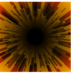 orange burst ray black hole dark stripe vector image vector image