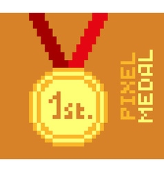 Pixel medal vector