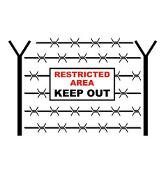 Restricted area icon cartoon style vector