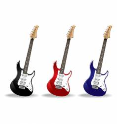 set of guitars vector image vector image