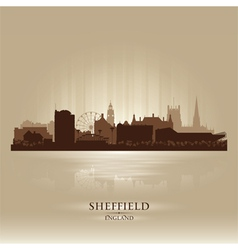 Sheffield England skyline city silhouette vector image
