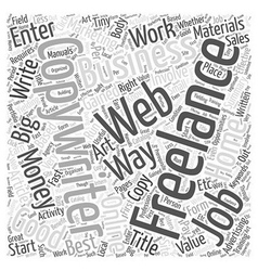 The Art of Freelancewriting Word Cloud Concept vector image vector image