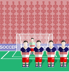 Usa soccer club penalty on a stadium vector