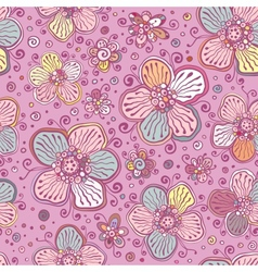 Vintage colors flowers seamless pattern vector image vector image