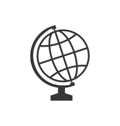 Global sphere instrument school icon vector