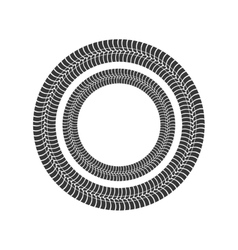 Print wheel tire shape black icon graphic vector