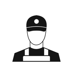 A man in a cap and uniform icon simple style vector