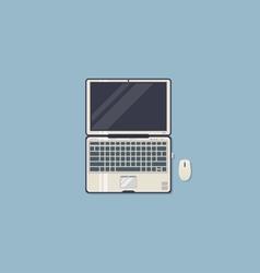 Laptop working space vector