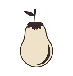 Pear fruit food vector