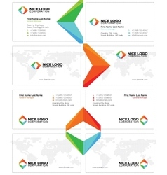 arrows business card light vector image