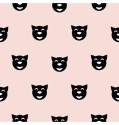 Black hipster cat kid scandinavian pattern vector image
