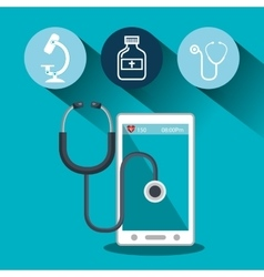 Set smartphone services medical isolated vector