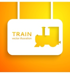 Train applique background vector
