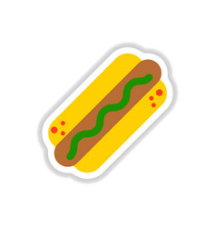 Hot dog sticker vector