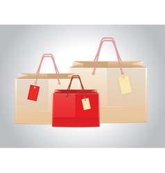 Shopping bags with tags vector image