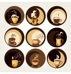 Coffee and tea symbols vector
