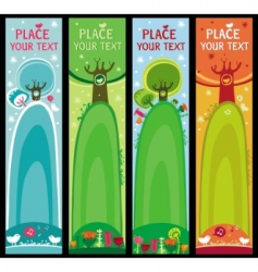 decorative banners vector image