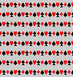 Seamless Pattern with Cards Background vector image