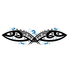 Fishes tribal vector