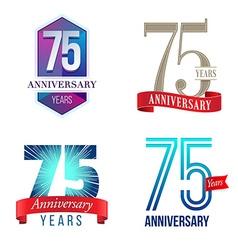 75 years anniversary symbol vector