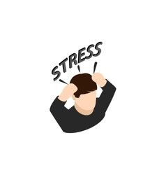 Stressed businessman icon isometric 3d style vector image