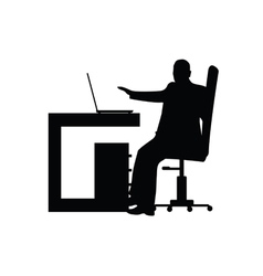Man in office silhouette vector