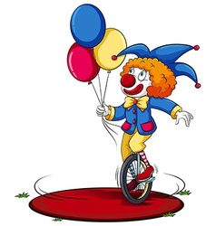 A clown running around in circle vector