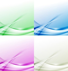 Abstract modern swoosh border line colorful vector