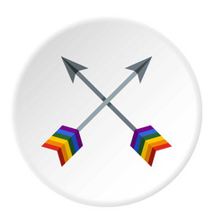 Arrows lgbt icon circle vector