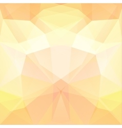 Background made of pastel yellow triangles Square vector image vector image