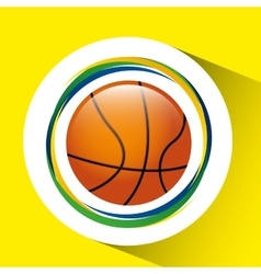 Ball basketball olympic games brazilian flag vector