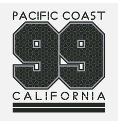 California t-shirt fashion printing sport vector