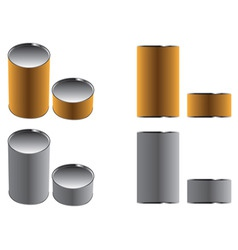 Cans paper brown and gray two color two views illu vector