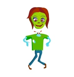 Cartoon zombie character vector image vector image