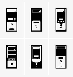 Desktop computer cases vector