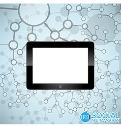 Digital tablet Molecule And Communication vector image