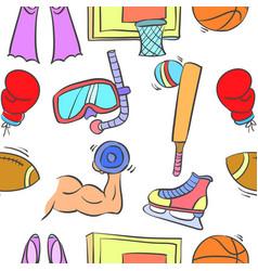 Doodle of sport equipment theme vector