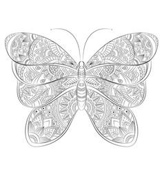 Doodle zentangle butterfly banner wish vector
