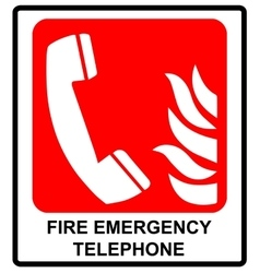 fire emergency telephone icons Signs of vector image