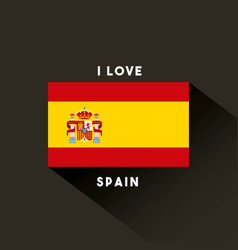 Flag classic icon of spanish culture vector