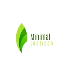 Green eco leaf icon created with circle shapes vector image vector image