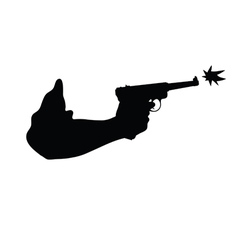 Gun in hand vector